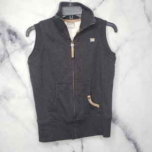 Nike full zip sweater vest with sherpa interior